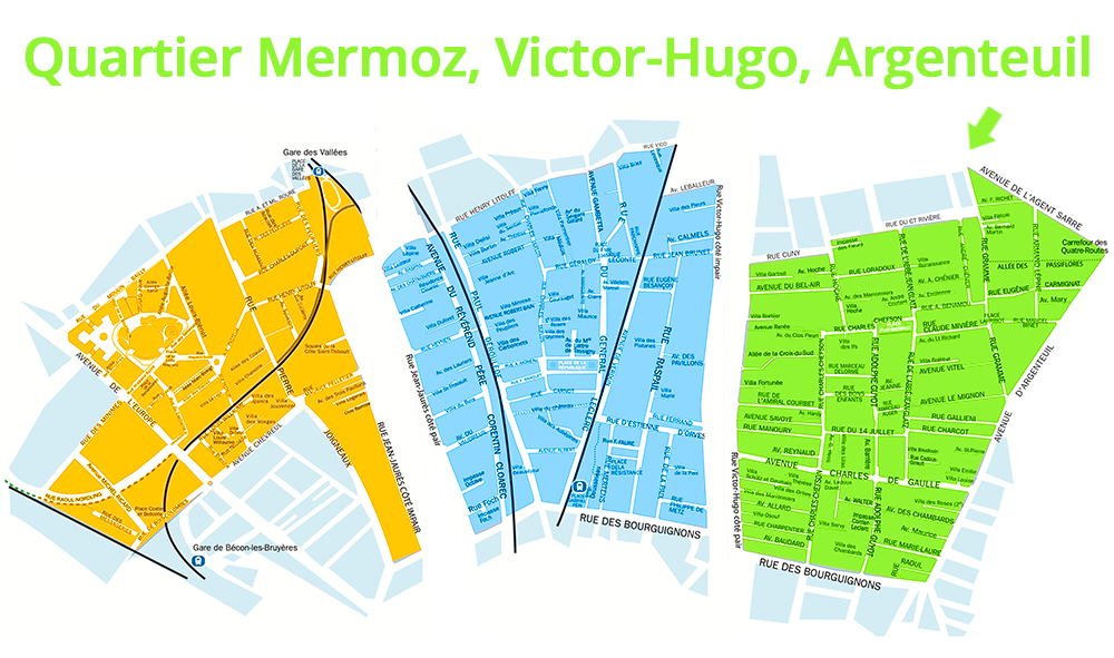le quartier Mermoz, Victor-Hugo, Argenteuil