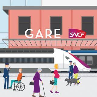 Gare accessible ux personnes à mobilité réduite