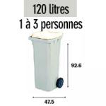 Bac 120 litres