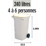Bac 240 litres