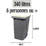 Bac 340 litres