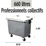 Bac 660 litres