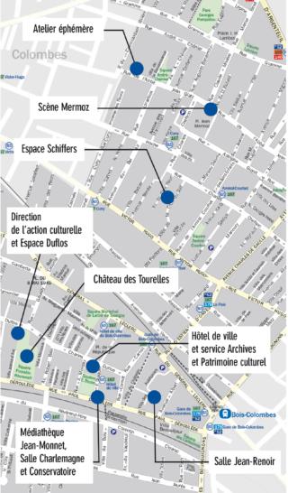 Plan des lieux culturels